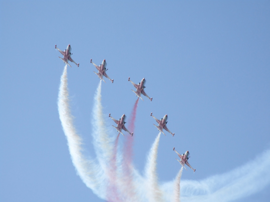 Turkish Stars doing air show on the 20th of July